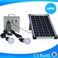Wholesale 10w portable mini solar home lighting kits with mobile charger for hot sale from china suppliers