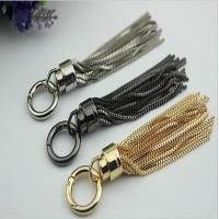 High quality modern design tassel custom zinc alloy gunmetal colors 115 mm length metal tassel with metal cap for sale
