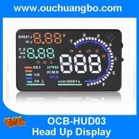 Wholesale Ouchuangbo 5.5 inch multi colour auto HUD car head up display with bluetooht support  refuel RPM icon speed alarm from china suppliers