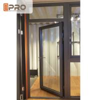 Customized Design Aluminium Hinged Doors For Construction Buildings for sale