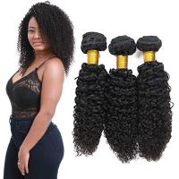 Wholesale Genuine Raw Virgin Curly Hair Bundles / Jerry Curly Hair Weave With Closure from china suppliers