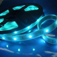 PVC Waterproof Blue LED Strip Lighting 24V, Flexible Strips For Business Office, Advertising for sale