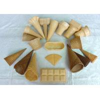 Wholesale Delicious Homemade Wafer Cones , Sugar Ice Cream Cone Multi Shape from china suppliers