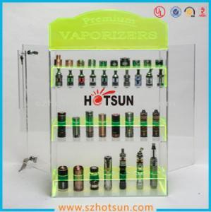 Quality clear acrylic e-cigarette display stand /e-liquid display case / e liquid bottle display for sale