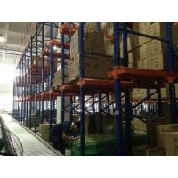 Wholesale Dark Blue Drive In Pallet Racking System , Heavy Duty Industrial Metal Shelving For Raw Materials from china suppliers