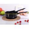 ST-P004 cast iron black colored kitchen appliance enamel ladle for sale