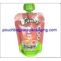 China Baby drinks food spouted bags, stand up pouch with spout for fruit juice milk packaging on sale