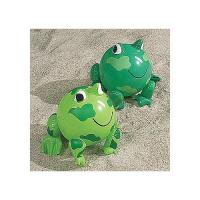 "Wholesale PVC Green Frog Beach Toys Inflatable Animal Beach Balls 10"" Overall Size Measures 14"" from china suppliers"