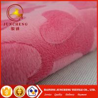 Buy cheap 2018 New arrival heart design 2mm minky plush fabric from wholesalers