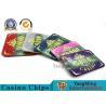 Fashion Bronzing Acrylic Purple Casino Poker Chip Set Anti - Counterfeit for sale