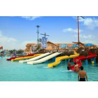 Wholesale FRP Kids Combinaton Water Slide By Body Or Raft For Outdoor Water Park Construction from china suppliers
