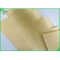 China FSC White Recycled Pulp 50gsm Brown Kraft Paper Roll , Virgin Kraft Liner Board for sale