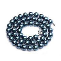Wholesale Luxury Luster Blue Round 10mm Shell Pearls Necklace 22 inches (N10612) from china suppliers