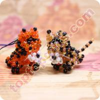 China glass seed beaded tiger 3d handicraft bead animal on sale