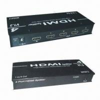 Wholesale HDMI Splitters with Aluminum Casing, Support HDCP-compliant Devices and DVI Specification 1.0 from china suppliers