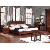 China Antique Solid Wood Bed in Wooden Bedroom Furniture sets on sale