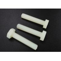 Wholesale M5 X 10 Beige Nylon Hex Head Screws PA 66 UL 94V-2 Flat Point For Car Industry from china suppliers