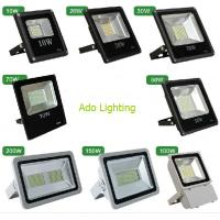 Wholesale outdoor led flood lighting black fixture 10-200W RGB DMX controlled rechargeable security from china suppliers