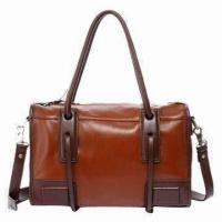 China Genuine Leather Handbag for Women, Fashionable, with Soft Texture, Measures 35 x 13 x 24cm on sale