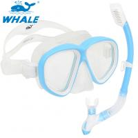 Wholesale Sea Commercial Diving Equipment Mask Snorkel Set Tempered Glasses from china suppliers
