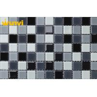 Wholesale OEM Kitchen Crystal Glass Mosaic Tiles , Glass Mosaic Backsplash Tile from china suppliers
