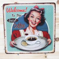 Quality Wall Decorative Vintage Metal Signs Metal Vintage Advertising Tins for sale