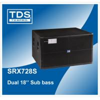 China Box Speaker Dual 18 inch Subwoofer Enclosure For Big sound systems (SRX728S) on sale