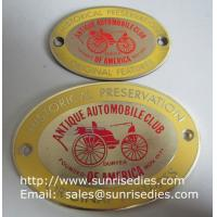 Wholesale Enamel Metal Sign Board with screw holes, OEM metal sign plate with colour filled from china suppliers