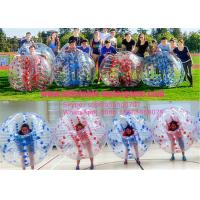 China Color Dots 1.0mm PVC Professional Clear Blow Up Bubble Ball , Bumper Balls Inflatable on sale