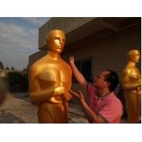 Wholesale Event party decoration statue Oscar statue in Gold color  Life size fiberglass oscar statue for sale from china suppliers