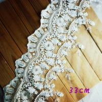 Wholesale Retro cream cotton embroidery floral venise lace fabric trim sewing DIY L407 from china suppliers
