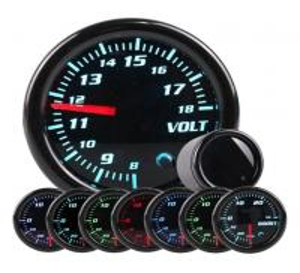 China 52mm/2Inch 7 Colors LED Smoke Lens Volt Voltage Universal Car Gauges Auto Meter Gauge Custom Auto Gauge on sale