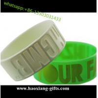 wholesale eco friendly thin colorful logo 1 inch silicone wristband/bracelet for sale