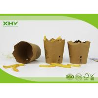 Wholesale Custom Print 250m Flower Shape Paper French Fries Cups 10oz Kraft Paper from china suppliers