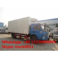 Wholesale dongfeng DFAC fish vegetable food meat hook refrigerator truck, dongfeng 120hp seafood transported cold room truck from china suppliers