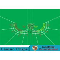 Quality Polyester Fabric Casino Table Layout Can Be Folded Convenient To Carry for sale