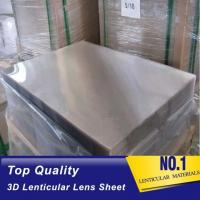 Wholesale Plastic Lenticular PS material lenticular board 40LPI, 3.95mm, 120x240cm lenticular sheet for injekt print with best 3D from china suppliers
