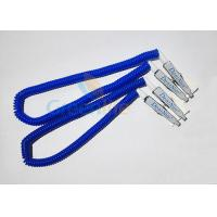 Wholesale Plastic Stretchy Dental Scarfpin Coiled Cord Blue Color 30CM Long Custom Logo Printing from china suppliers