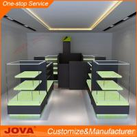 China Special customized layers glass mobile phone shop interior design cell phone kiosk decorat on sale