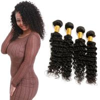 Wholesale 4 Bundles Of Deep Wave Hair Bundles / Thick Pure Deep Wave 100 Human Hair from china suppliers