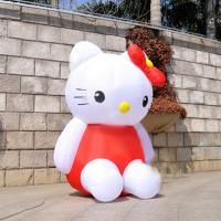 Wholesale Lovely Customize Inflatable Hello Kitty For Advertisement , Double Tripple Stitch from china suppliers