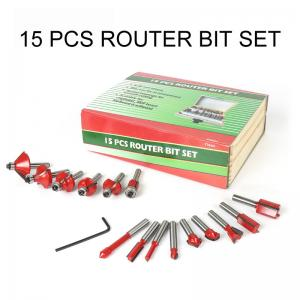 Wholesale BMR TOOLS 15pcs Carbide Router Bit Set with 1/4 Inch Shank YG-8 Tips for Wood,Plywood,PVC Tube,Plastic working from china suppliers