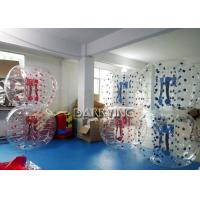 Wholesale Commercial Outdoor Inflatable Toys Red Dot / Blue Dot Human Sized Soccer Ball 1.7 M from china suppliers