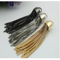 OEM DIY Metal zinc alloy nickel color handbag accessories end caps with tassel for sale