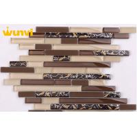 Wholesale 8mm Thickness Artistic Strip Mosaic Tile , Supermarket Unique Mosaic Tiles from china suppliers