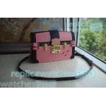 China Newest Replica LV bag Pink Monogram Reverse Canvas lv bags bag Trunk Clutch Handbag for sale