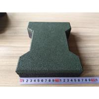 Wholesale Colorful wear resistant dog-bone outdoor rubber floor tiles for path pavers from china suppliers