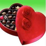China Mass customized truffle chocolate red heart-shaped box for sale