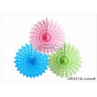Quality 30cm 40cm Tissue Paper Fan Decorations Diy White Pink Blue Yellow For Party for sale