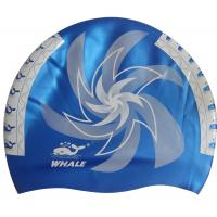 Quality Adult Silicone Swim Caps Multi Color Design No Wrikle Cap ISO for sale